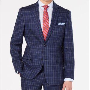 Tommy Hilfiger Modern-fit Navy Windowpane Suit